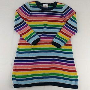Hannah Andersson Rainbow Knit Sweater Dress